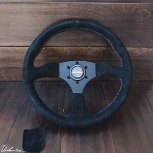 Viilante Leggera 350mm Steering Wheel Genuine Suede Tri Color Fits Bmw E30 M3