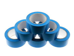 6x 2 Medium Blue Insulated Adhesive Pvc Pin Striping Vinyl Electrical Tape 36yd