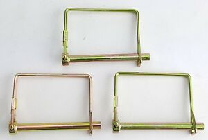 3 Pack Lot 1 4 Trailer Coupler Safety Snap Locking Pin Square Towing Hitch