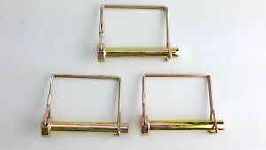 3 Pack Lot 3 8 Trailer Coupler Safety Snap Locking Pin Square Towing Hitch