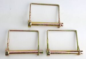 3 Pack Lot 5 16 Trailer Coupler Safety Snap Locking Pin Square Towing Hitch