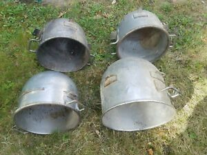 Lot Of 4 Hobart Tin steel Hobart 30 Qt 40 Qt Bowl Hobart Mixer