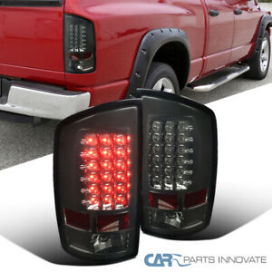 For 07 09 Dodge Ram 1500 2500 3500 Smoke Led Tail Lights Rear Brake Lamps Pair