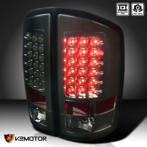 Smoked 2007 2008 Ram 1500 2500 3500 Rear Brake Lamps Led Tail Lights Replacement