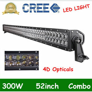 4d 52 Inch 300w Led Cree Work Light Bar Flood Spot Truck Offroad 4x4wd 42 50