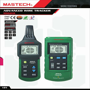 Mastech Ms6818 Underground Wire Cable Metal Pipe Line Detector Tester Tracker