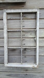 Architectural Salvage Distressed Antique Window Sash C 1950 32x19 6 Pane