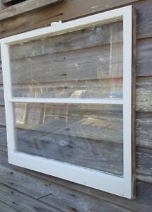 Architectural Salvage Antique Window Sash C 1900s 30x28 2 Pane Pinterest