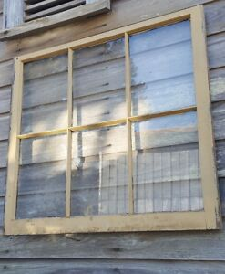 Architectural Salvage Antique Window Sash C 1900s 36x32 6 Pane P