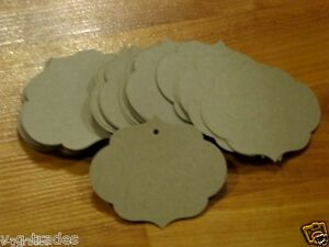 Lot 2500 Large Ornate Oval Kraft Merchandise Price Tags Unstrung 2 h X 3 w
