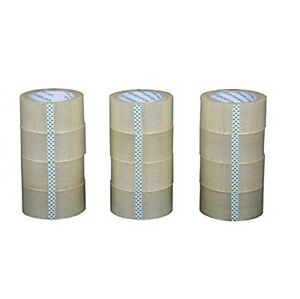 12 Rolls 2 x55 Yards 165 Ft Box Carton Sealing Packing Package Tape Clear