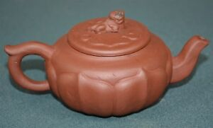 Fine Chinese Zisha Purple Sand Clay Teapot Finely Carved Natural Material Le8132