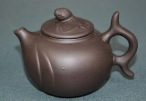 Fine Chinese Zisha Purple Sand Clay Teapot Finely Carved Natural Material Ew8312