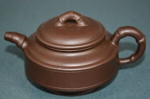 Fine Chinese Zisha Purple Sand Clay Teapot Finely Carved Natural Material Qz1721