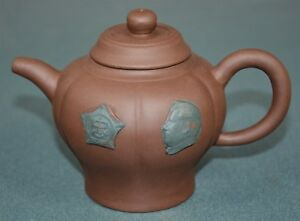 Fine Chinese Zisha Purple Sand Clay Teapot Finely Carved Natural Material Gu5126
