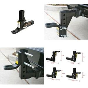 Ball Mount Hitch Drop Adjustable Trailer 8 Position Heavy Duty Towing 5000 Lbs