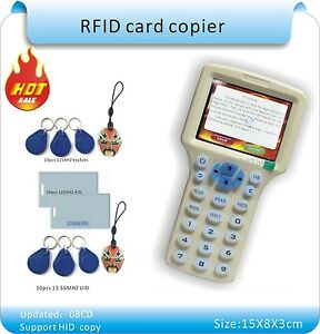 English Ver 10 Frequency Copy Encrypted Nfc Smart Card Rfid Copier Id ic Writer