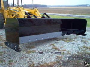 Linville 14 Snow Pusher Loader Snowplow Backhoe Plow Steel Edge Rubber