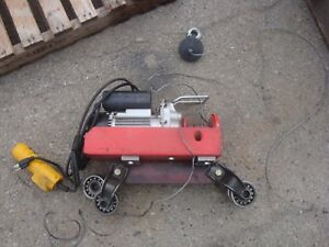 Chicago Electric 220lb Single 440lb Double Electric Hoist With Beam Trolley