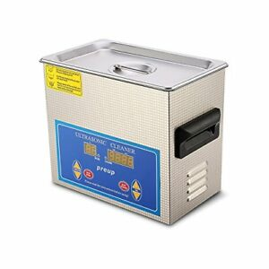 Flexzion Commercial Ultrasonic Cleaner 3l Large Capacity Stainless Steel With He