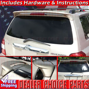 2001 2004 2005 2006 2007 Toyota Highlander Oe Factory Style Spoiler Wing Primer