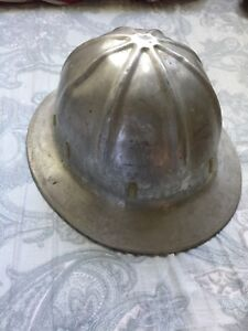 Vintage Aluminum Safety Hard Hat Helmet Possibly Superlite Co