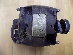 Vintage Cast Housing General Electric Ac Motor Model 26135 Ge 1 6 Hp 1725 Rpm