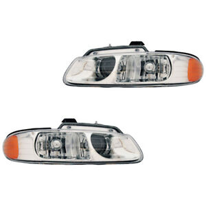 Fits 96 99 Town country Caravan Driver Passenger Quad Bulb Headlight Lamp 1 Pair