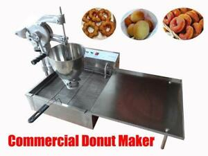 Commercial Manual Breakwater Donut Ball Donut Fryer Maker Making Machine 3moulds