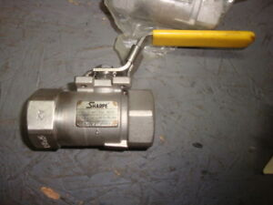 Lot Of 3 Sharpe 2500 Stainless Steel Ball Valve 1 2 6000 Wog Free Shipping