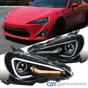 For 12 17 Scion Fr s Toyota 86 Pearl Black Projector Headlights W Led Signal