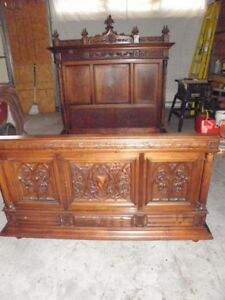 French Gothic Style Bedroom Set