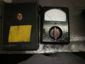 Used No Leads Triplett Model 630 Analog Multimeter Case Free Shipping