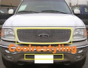 For 1999 2000 2001 2002 Ford Expedition 4wd Billet Grille Combo Inserts