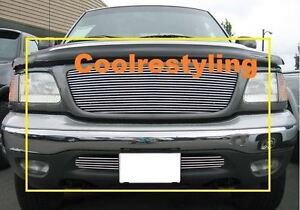 For 99 2000 01 02 03 Ford F150 F 150 4wd Billet Grille Grill Combo Inserts Lc