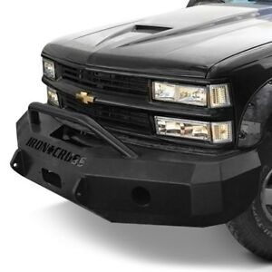 For Chevy C1500 93 98 Bumper Heavy Duty Series Full Width Black Front Winch Hd