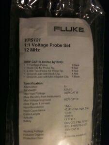 Fluke Vps121 1 1 12mhz Voltage Probe Set With Angled Bnc