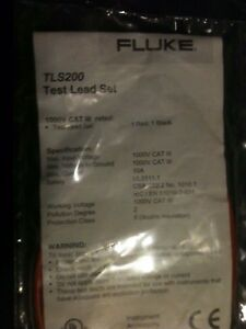 Fluke Tls200 Test Lead Set For Digital Multimeter New