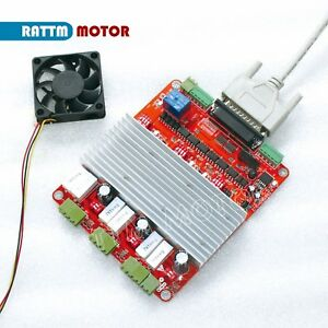 Cnc 3 Axis Tb6560 Stepper Motor Driver Controller Board V Type Parallel Cable