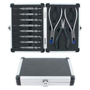 11pcs Optical Tools Kit Eyelgasses Rimless Disassembly Pliers Set With Case