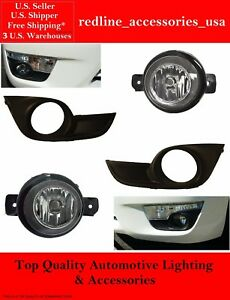 Replacement Fog Light Kit For 2013 2014 2015 Nissan Altima Lamps Bulbs Bezels