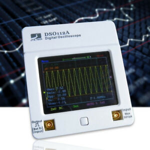 Dso112 Lcd Touch Screen Portable 2mhz Oscilloscope With Battery Usb Cable