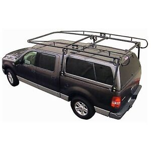 Paramount 19601 Full Size Truck Camper Shell Contractors Rack Black