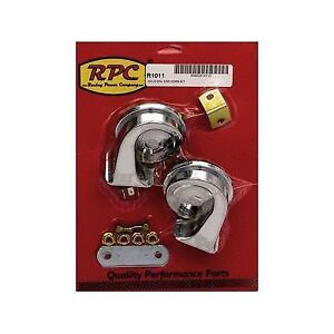 Racing Power Company R1011 Dual Hi lo Horn Set 12 Volt With Mounting Hardware
