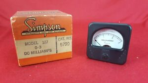 Vintage Nos Simpson Model 127 Dc Milliamperes 0 3 Panel Mount Meter 5790