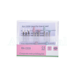 Dental Light cured Resin Composite Polishing Kit Ra 0309 For Low speed Handpiece