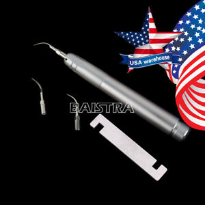 Us Dental Air Scaler Handpiece 2 Holes With 3 Tips G1 g2 p1 Az2000 b2 Nsk Style