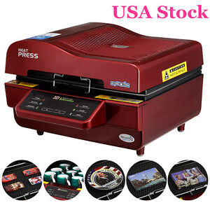 Usa Stock 110v 3d Sublimation Transfer Heat Press Machine For Phone Cases Mugs