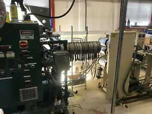 Counter Rotating Twin screw Sheet Extruder Line 1 Screw With 4 Die