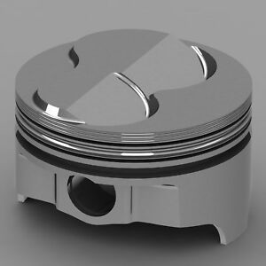 Icon Forged Piston Set Chevy 327 Rod 6 000 Solid Dome 6 3cc 2v